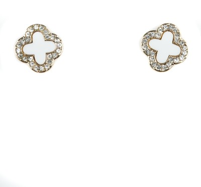 A Bit of Me Blanched Alloy Stud Earring