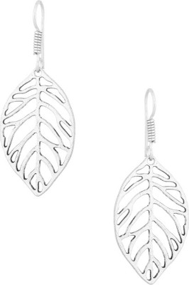 Gemshop PAIR OF WITH LEAFY MOTIF Alloy Dangle Earring
