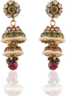 moKanc Polki Crystal Copper Jhumki Earring