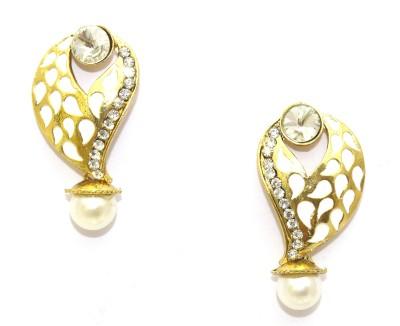 Aarnaa White Enamel Alloy Drop Earring