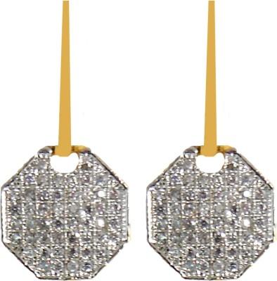 Shubh 4u Beautiful American Diamond Alloy Drop Earring