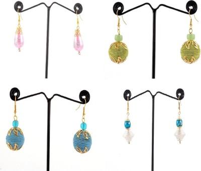 Laron Handicrafts Threaded Baals Metal, Acrylic Earring Set