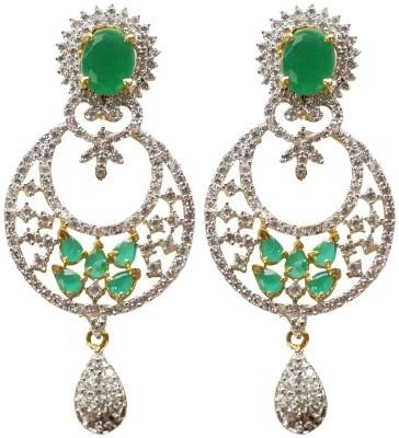 Sheetal Jewellery Cubic Zirconia Brass Chandbali Earring