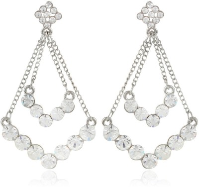 Moedbuille Silver Insignia [MBER00604] Cubic Zirconia Alloy Drop Earring