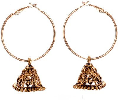 Grandiose Daily Wear Oxidized triangular Alloy Jhumki Earring