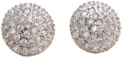 Jewar Mandi Fashion Jewellery Cubic Zirconia Alloy Stud Earring