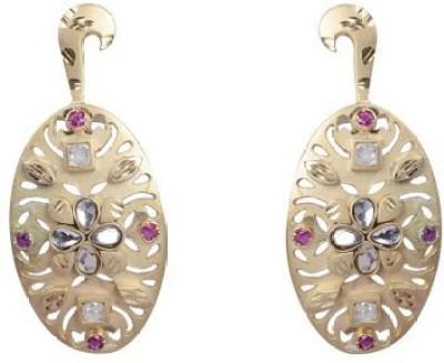 Amalaan Jewels Designer Cubic Zirconia Brass Stud Earring