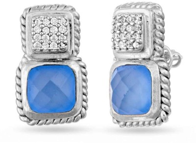 VelvetCase Classic Blue Elegance Stud Earrings Silver Stud Earring