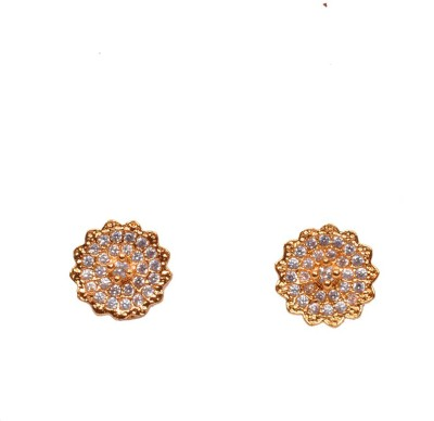 PFJ PFJ3022-EARRING Cubic Zirconia Brass, Copper Stud Earring