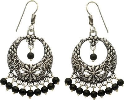 Studiob40 Silver Alloy Designer Jhumki Earrings Alloy Drop Earring
