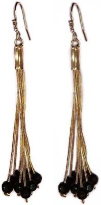 000 Fashions Sterling Golden Tassel Earrings Crystal Alloy Dangle Earring