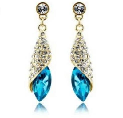 University Trendz Univ_E085 Crystal Alloy Drop Earring