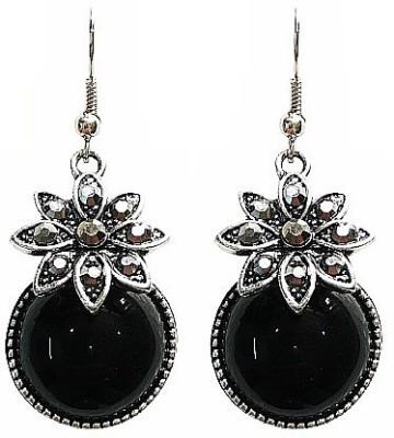 Blingxing Silver Flower Metal, Alloy Dangle Earring