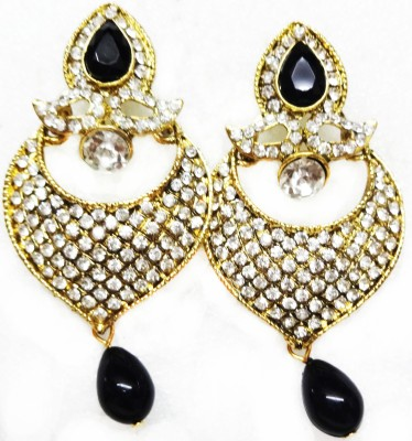 SB Fashions Black diamond Brass Drop Earring