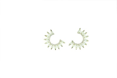 Vanity Roots Sparkling Elegance Pearl, Crystal Alloy Cuff Earring