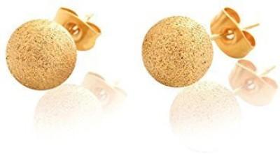 Mehrunnisa 18k Gold Tone Ball Stud Metal Stud Earring
