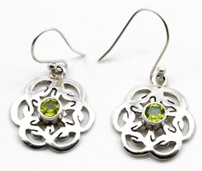 YugshaJewels Peridot Silver Dangle Earring