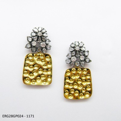 E-Designs ERG28GP024-1171 Cubic Zirconia Alloy Drop Earring