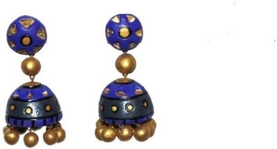 Aanya Creations Handmade Terracotta Fashion Ceramic Jhumki Earring