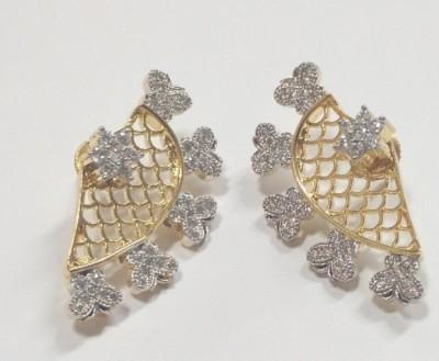 Sunitagems 99SGE Zircon Brass Cuff Earring