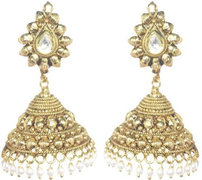 Swanvi Traditional Crystal Alloy Jhumki Earring