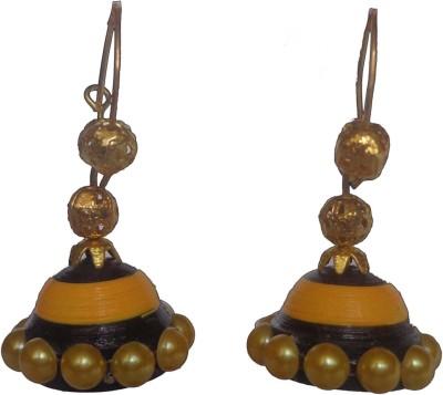 Sharun Collections Beautiful Ethanic Paper Jhumki Earring
