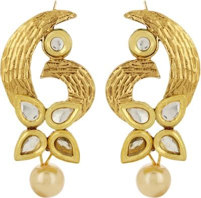 Prita Classic Kundan Polki Alloy Dangle Earring