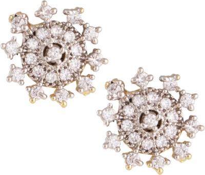 Fashionaya Diamond Sun Cubic Zirconia Alloy Stud Earring