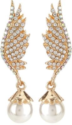 Moedbuille Designer Dangle And Drop Cubic Zirconia Alloy Drop Earring