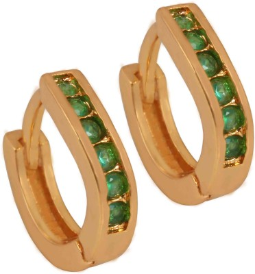 SuperShineJewelry Spring Sparkle Emerald Brass Stud Earring
