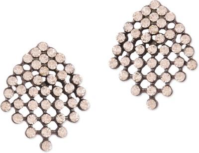 Oomph Black & White Crystal Fashion Jewellery for Women, Girls & Ladies Metal Drop Earring