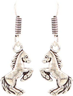 Jewel Funk Silver Coloured Horse Shaped Alloy Dangle Earring