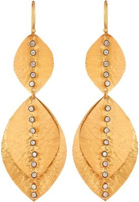Krishna Pearls & Jewellers Princess Delight Cubic Zirconia Silver Dangle Earring