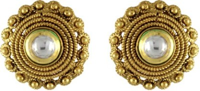 CatchMe Golden Alloy Stud Earring