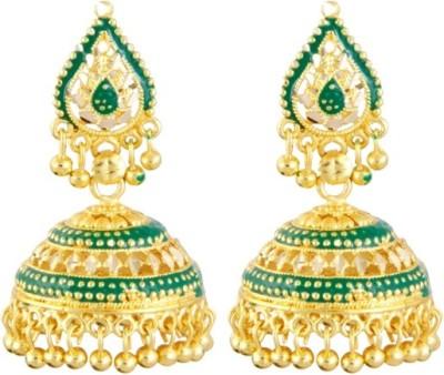 Aanya Creations Green Beauty Alloy Jhumki Earring
