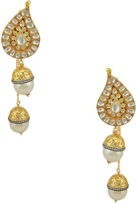 Orniza Jadau Kundan Fashion Brass Chandbali Earring at flipkart