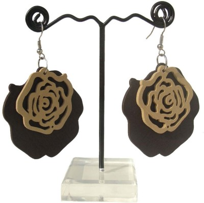 MKB ER1023 Wood Dangle Earring