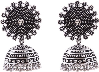 Shree Shyam Handicraft Oxidised Brass Jhumki Earring