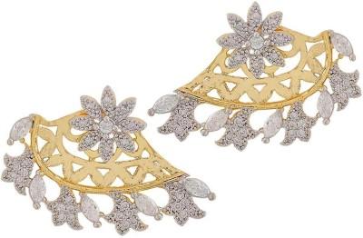 Maayra Exclusive American Diamond Crystal Brass Dangle Earring