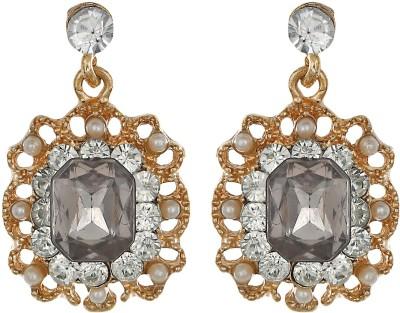 Amroha Crafts Golden Grace Alloy Drop Earring