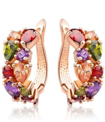 University Trendz Univ_E094 Crystal Alloy Clip-on Earring