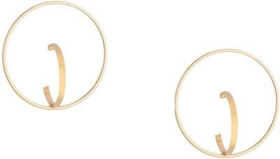 Oomph Gold Unique Fashion Jewellery Ear Stud Hoop Earrings for Women & Girls Metal Stud Earring