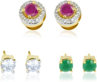 Tiara Gems Zircon Copper Earring Set