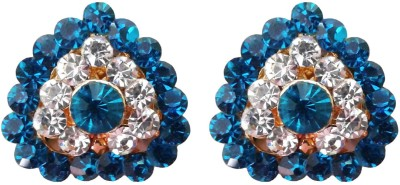 Shreya Collection Spring Sparkle-Blue & White Alloy Stud Earring