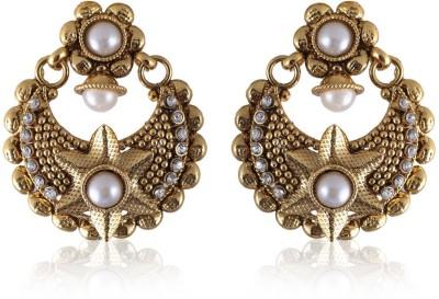 Vastradi Chandbalis Brass, Alloy Dangle Earring