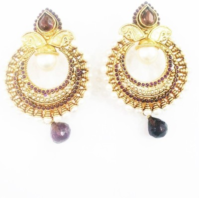 Swetha Antique Traditional Copper Chandbali Earring