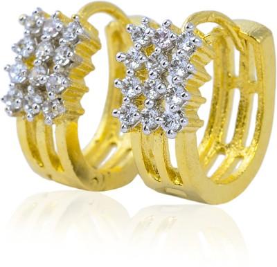 Tiara Gems Zircon Copper Huggie Earring