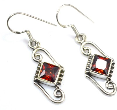Anavaysilver Ear052 Garnet Sterling Silver Dangle Earring