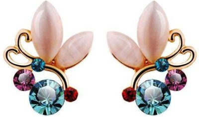 Roma Brothers Rhinestonesbutter1 Opal Alloy Stud Earring