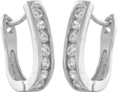 Kushals Fashion Jewellery Silver Silver Hoop Earring